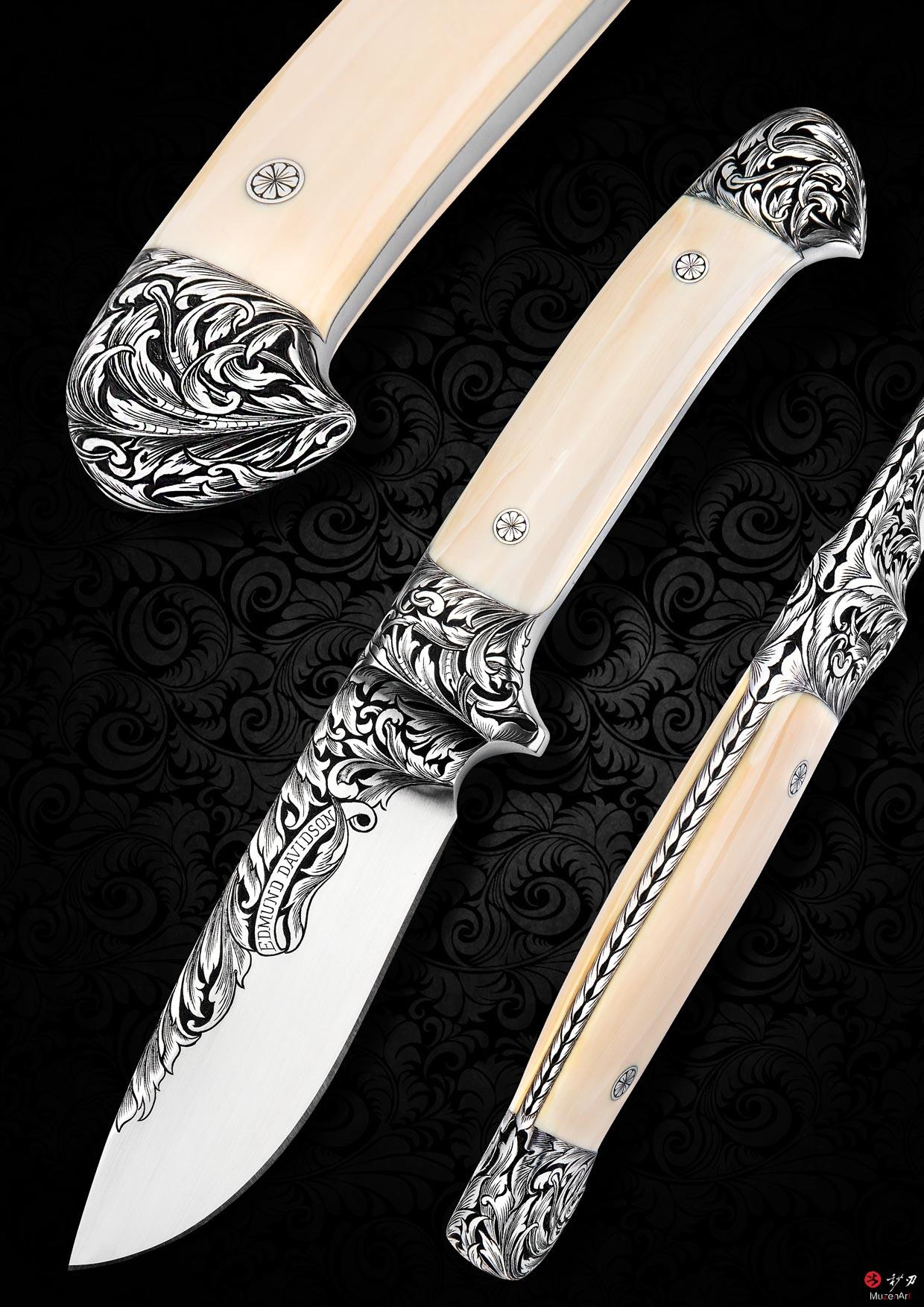 一体钢猎刀